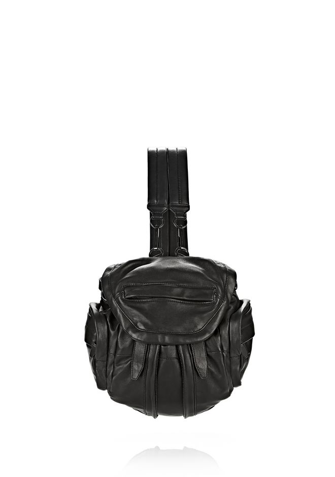 ALEXANDER WANG MINI MARTI IN BLACK WITH MATTE BLACK BACKPACK Adult 12_n_f