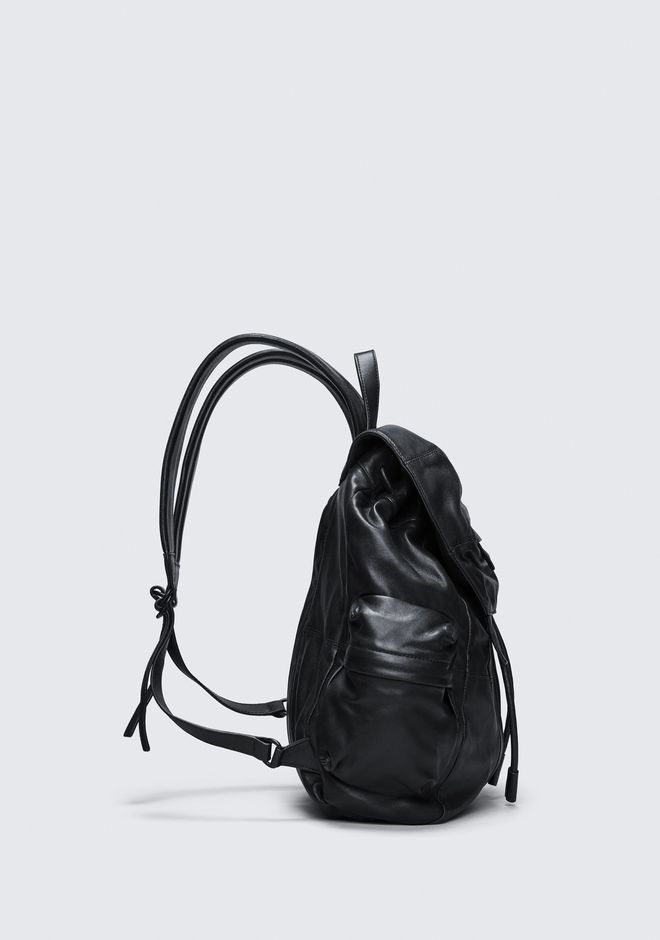 ALEXANDER WANG MARTI BACKPACK IN WASHED BLACK WITH MATTE BLACK RUCKSACK Adult 12_n_a