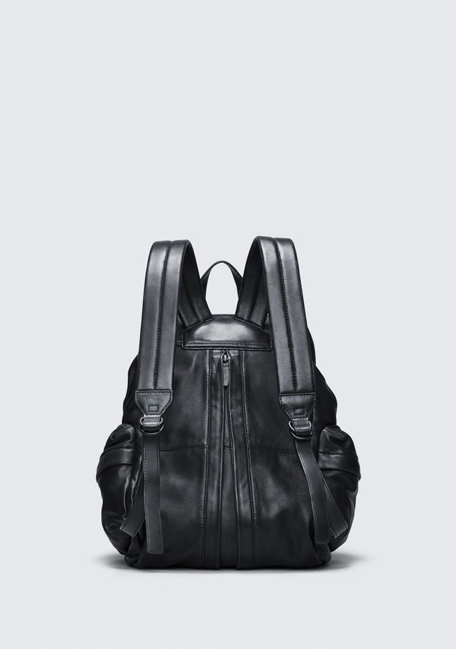 ALEXANDER WANG MARTI BACKPACK IN WASHED BLACK WITH MATTE BLACK RUCKSACK Adult 12_n_d