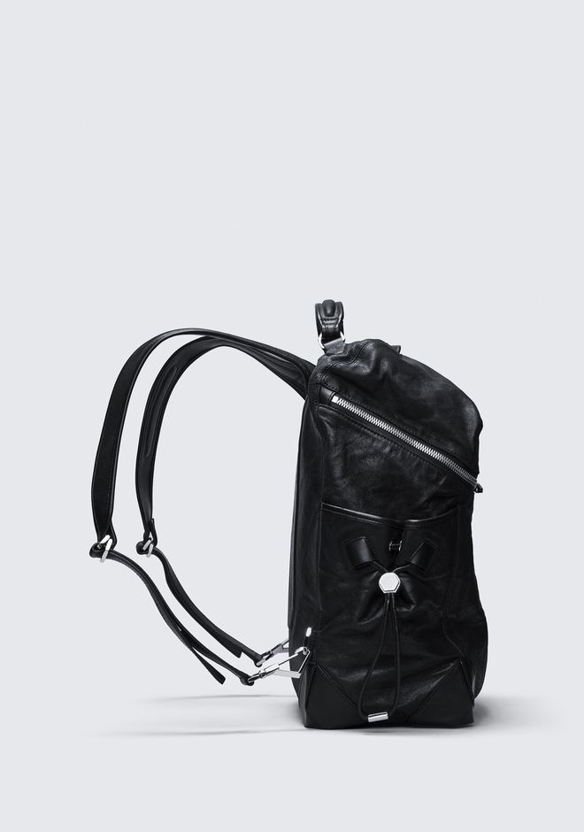 ALEXANDER WANG SMALL WALLIE BACKPACK IN WAXY BLACK WITH RHODIUM  BACKPACK Adult 12_n_a