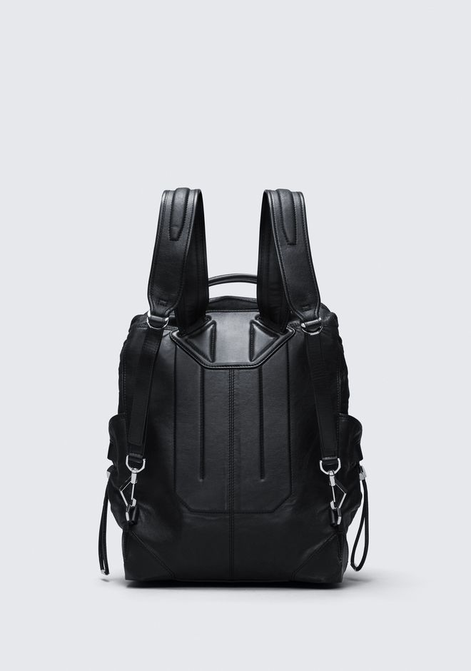 ALEXANDER WANG SMALL WALLIE BACKPACK IN WAXY BLACK WITH RHODIUM  BACKPACK Adult 12_n_d