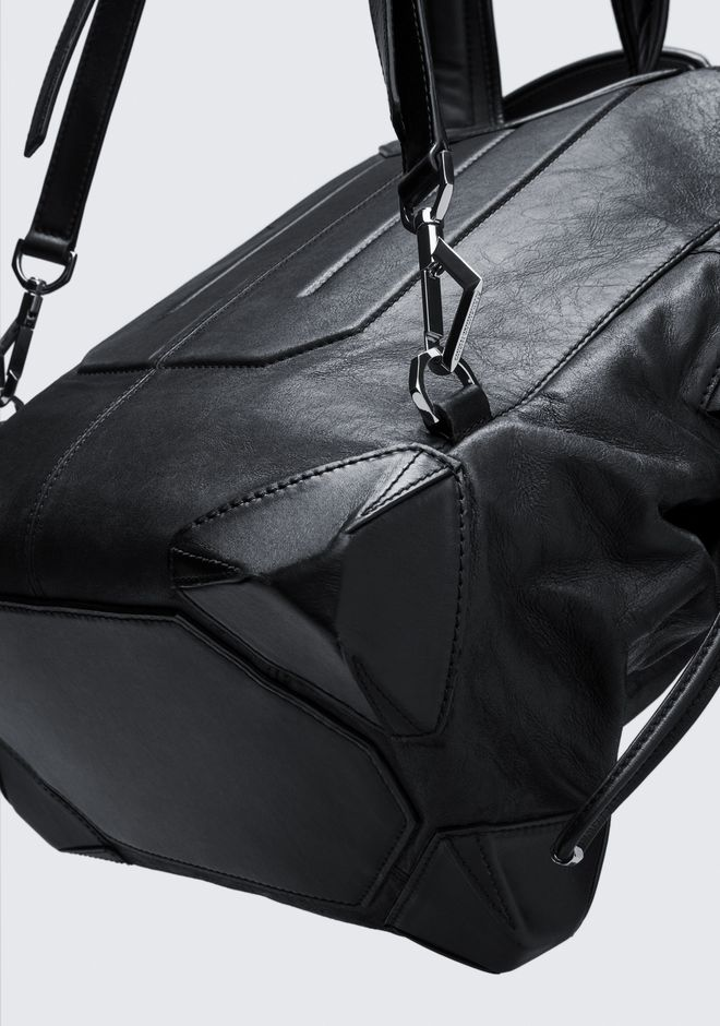 ALEXANDER WANG SMALL WALLIE BACKPACK IN WAXY BLACK WITH RHODIUM  BACKPACK Adult 12_n_e