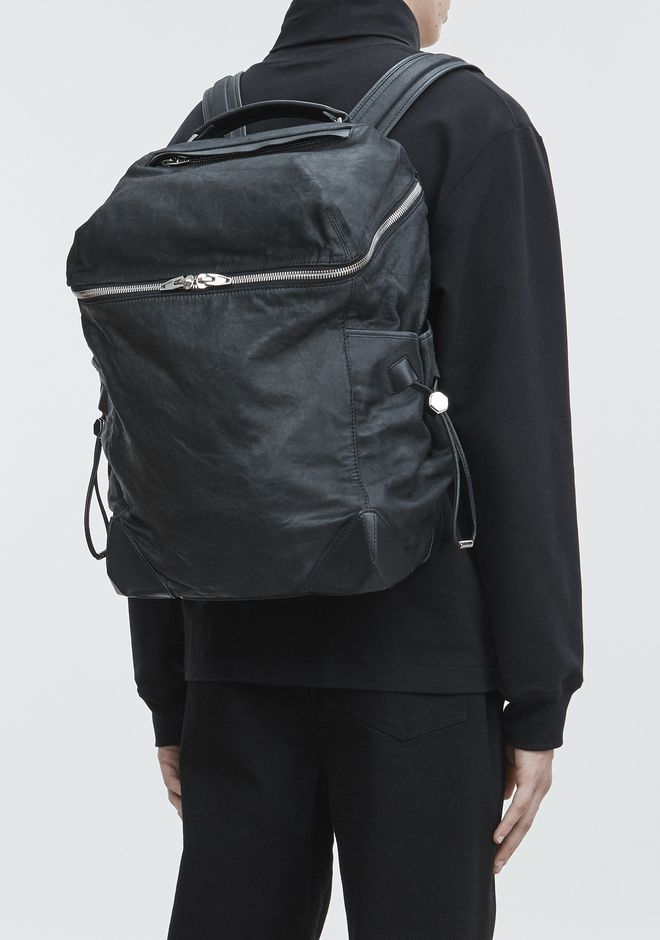 ALEXANDER WANG SMALL WALLIE BACKPACK IN WAXY BLACK WITH RHODIUM  BACKPACK Adult 12_n_r