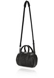 ALEXANDER WANG MINI ROCKIE IN PEBBLED BLACK WITH RHODIUM   Shoulder bag Adult 8_n_a