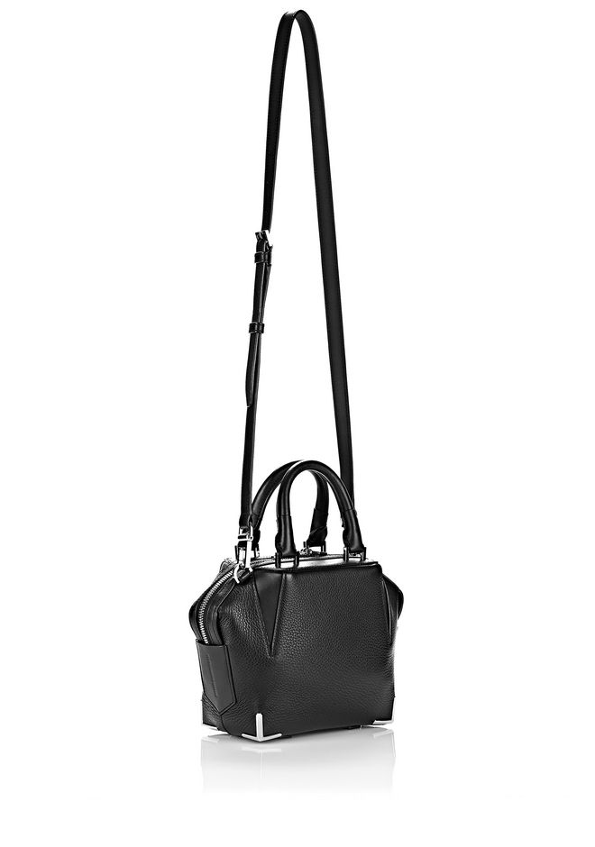 ALEXANDER WANG MINI EMILE IN PEBBLED BLACK WITH RHODIUM Shoulder bag Adult 12_n_a