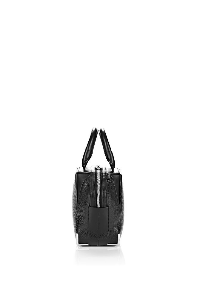 ALEXANDER WANG MINI EMILE IN PEBBLED BLACK WITH RHODIUM Shoulder bag Adult 12_n_d