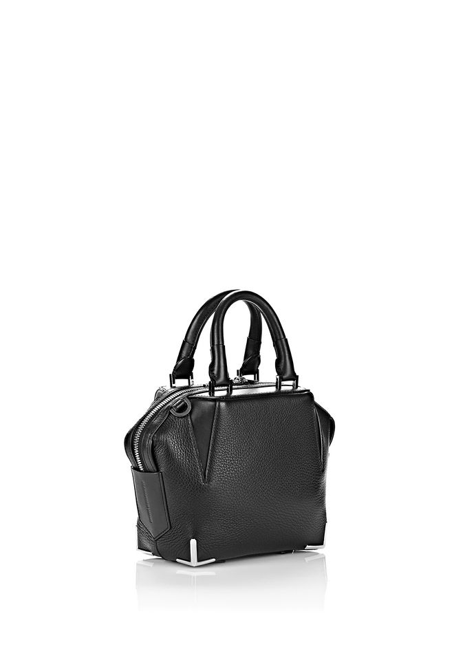 ALEXANDER WANG MINI EMILE IN PEBBLED BLACK WITH RHODIUM Shoulder bag Adult 12_n_e