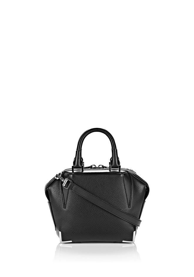 ALEXANDER WANG MINI EMILE IN PEBBLED BLACK WITH RHODIUM Shoulder bag Adult 12_n_f