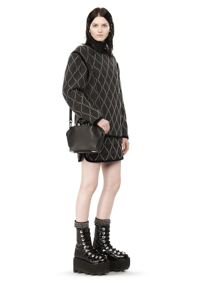 ALEXANDER WANG MINI EMILE IN PEBBLED BLACK WITH RHODIUM Shoulder bag Adult 12_n_r