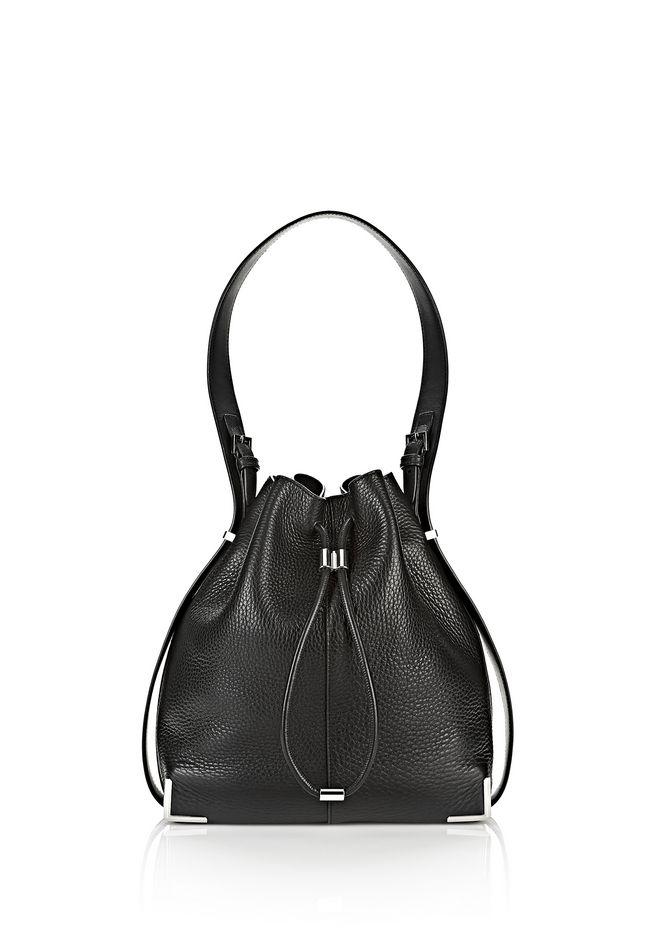 Alexander Prisma Drawstring Hobo In Black With Rhodium Shoulder Bag 12 N F