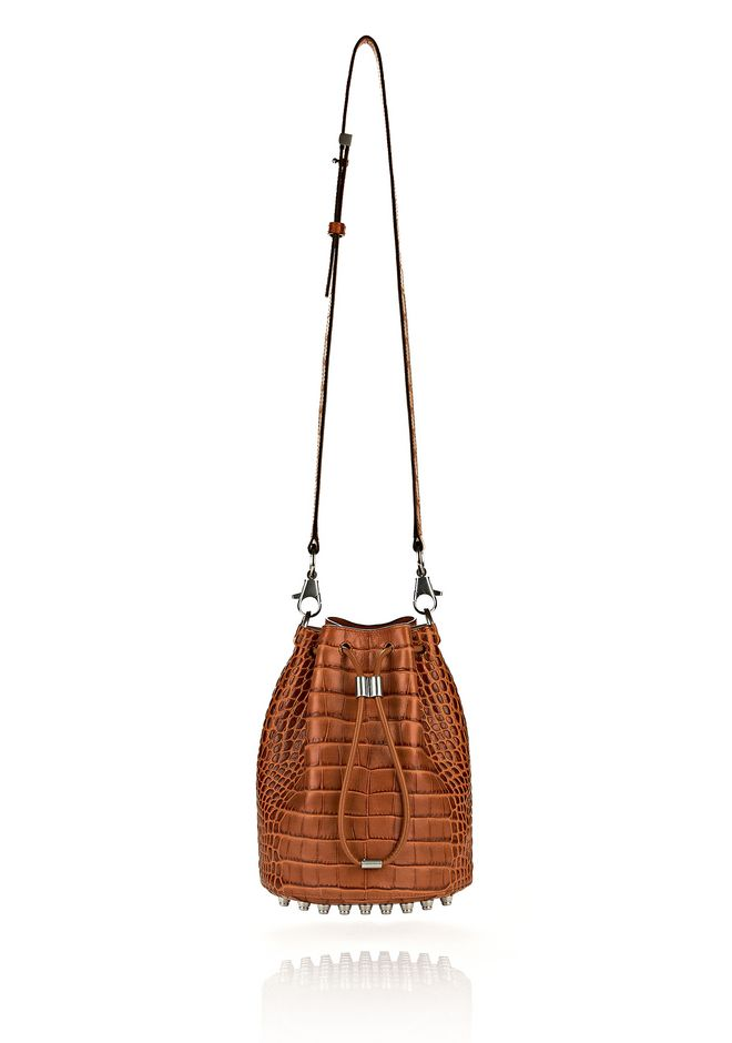 ALEXANDER WANG ALPHA BUCKET IN TIMBER WITH RHODIUM Shoulder bag Adult 12_n_e