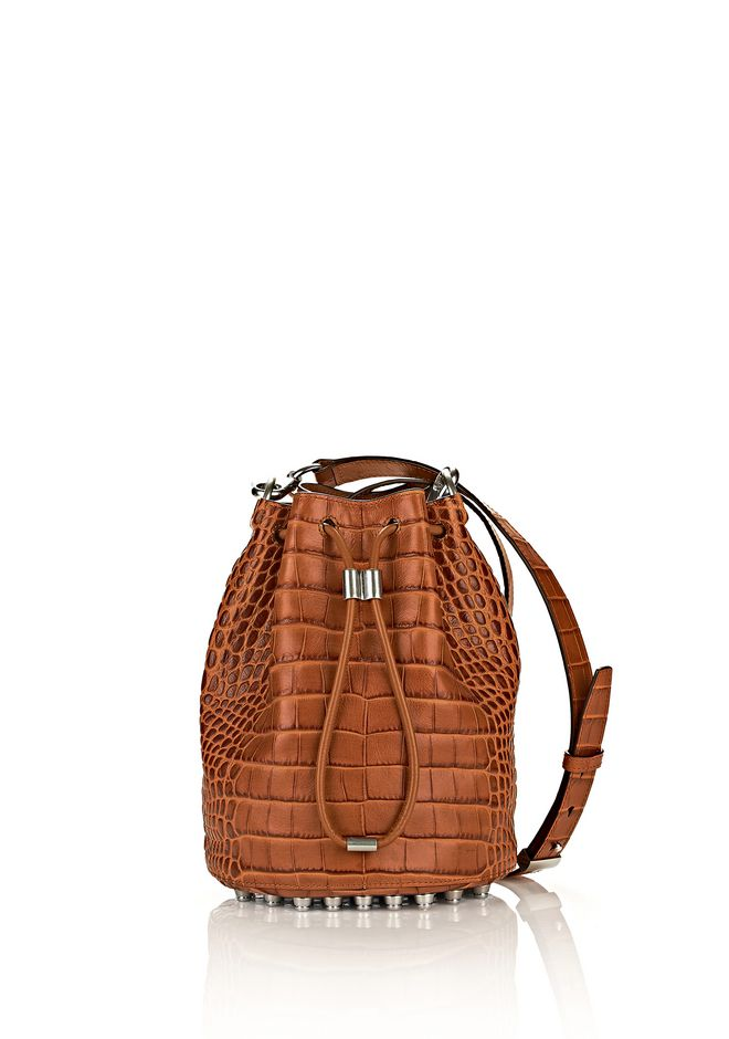 ALEXANDER WANG ALPHA BUCKET IN TIMBER WITH RHODIUM Shoulder bag Adult 12_n_f