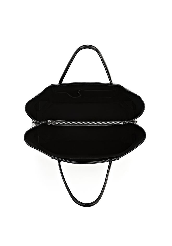 ALEXANDER WANG PRISMA LARGE TOTE IN PEBBLED BLACK WITH RHODIUM Shoulder bag Adult 12_n_a
