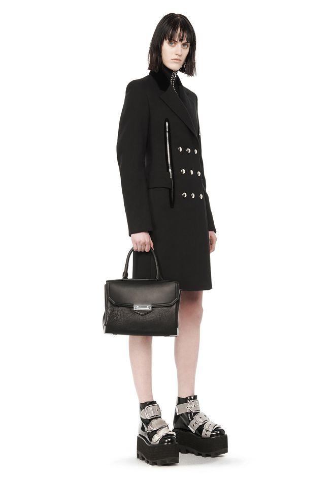 Alexander Large Marion In Pebbled Black With Rhodium Shoulder Bag 12 N R