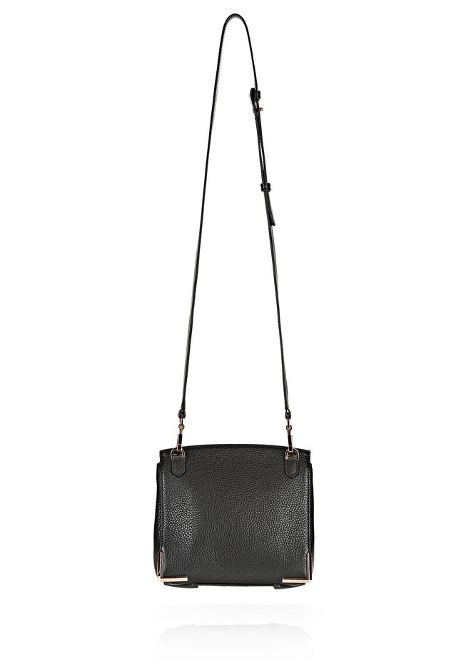 ALEXANDER WANG MARION IN PEBBLED BLACK WITH ROSE GOLD Shoulder bag Adult 12_n_d