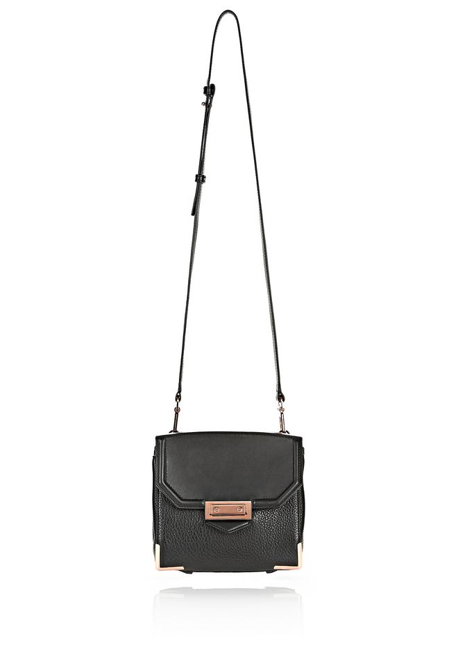 ALEXANDER WANG MARION IN PEBBLED BLACK WITH ROSE GOLD Shoulder bag Adult 12_n_e