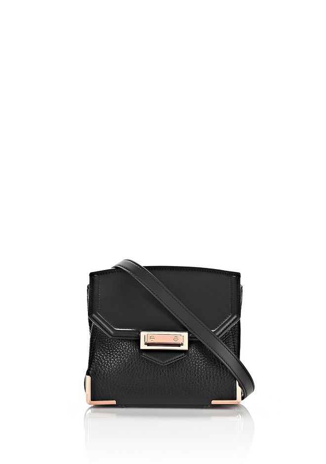 ALEXANDER WANG MARION IN PEBBLED BLACK WITH ROSE GOLD Shoulder bag Adult 12_n_f