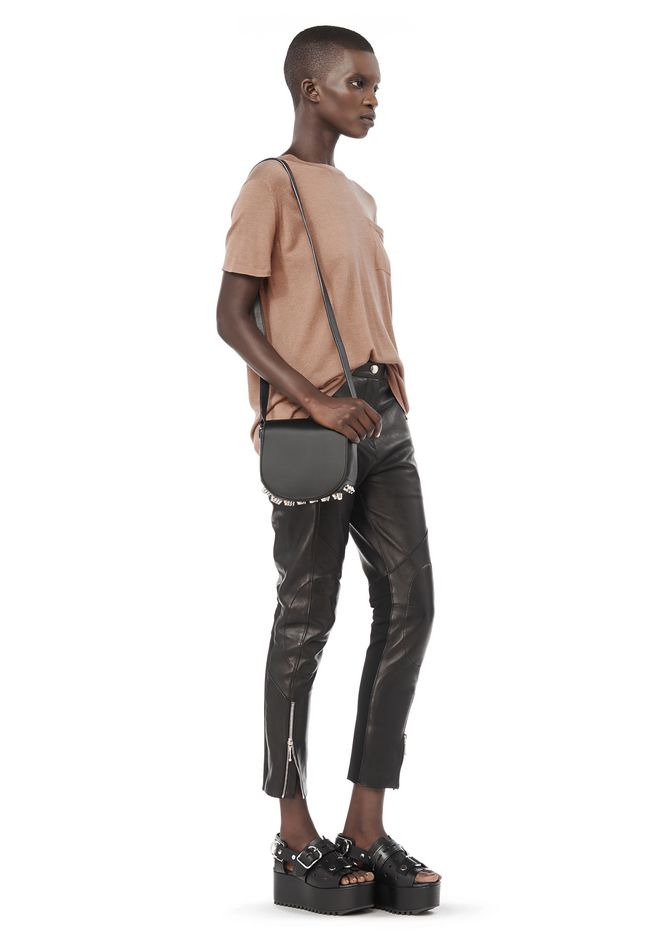 ALEXANDER WANG MINI LIA IN BLACK WITH RHODIUM Shoulder bag Adult 12_n_r