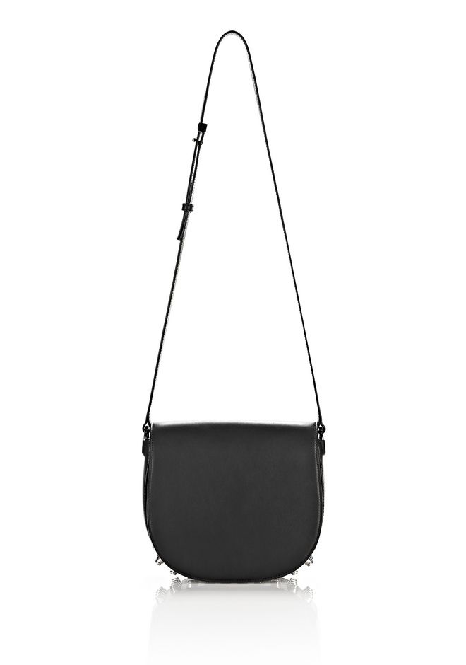 ALEXANDER WANG LIA IN BLACK WITH RHODIUM Shoulder bag Adult 12_n_e