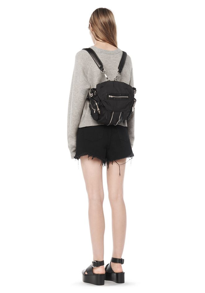 Alexander Wang Mini Marti In Black Leather And Nylon With