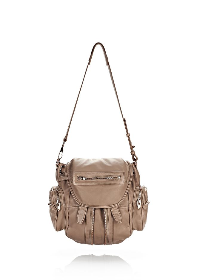 ALEXANDER WANG MINI MARTI IN WASHED LATTE WITH ROSE GOLD BACKPACK Adult 12_n_d