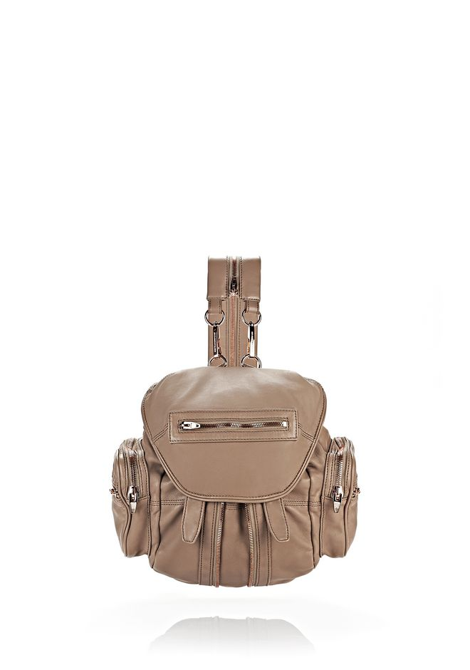 ALEXANDER WANG MINI MARTI IN WASHED LATTE WITH ROSE GOLD BACKPACK Adult 12_n_f