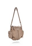 ALEXANDER WANG MINI MARTI IN WASHED LATTE WITH ROSE GOLD BACKPACK Adult 8_n_a