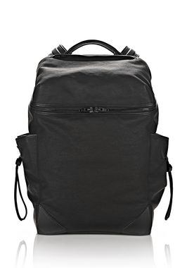 WALLIE BACKPACK IN RUBBERIZED CANVAS WITH MATTE BLACK