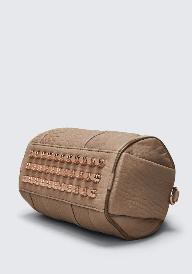 ALEXANDER WANG MINI ROCKIE IN PEBBLED LATTE WITH ROSE GOLD Sac porté épaule Adult 12_n_a