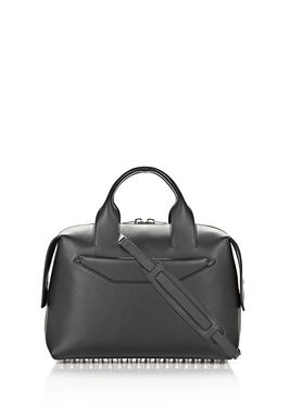ROGUE LARGE SATCHEL IN BLACK WITH RHODIUM