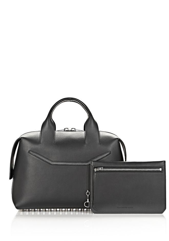 ALEXANDER WANG ROGUE LARGE SATCHEL IN BLACK WITH RHODIUM Shoulder bag Adult 12_n_e