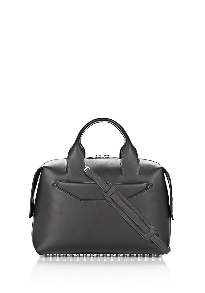 ALEXANDER WANG ROGUE LARGE SATCHEL IN BLACK WITH RHODIUM Shoulder bag Adult 12_n_f