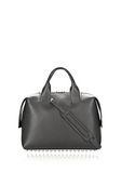 ALEXANDER WANG ROGUE LARGE SATCHEL IN BLACK WITH RHODIUM Shoulder bag Adult 8_n_d