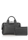 ALEXANDER WANG ROGUE LARGE SATCHEL IN BLACK WITH RHODIUM Shoulder bag Adult 8_n_e