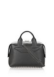 ALEXANDER WANG ROGUE LARGE SATCHEL IN BLACK WITH RHODIUM Shoulder bag Adult 8_n_f