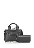 ALEXANDER WANG ROGUE SMALL SATCHEL IN BLACK WITH RHODIUM Shoulder bag Adult 8_n_e