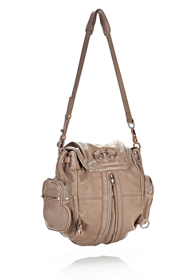 ALEXANDER WANG MARTI IN LATTE WITH ROSE GOLD BACKPACK Adult 12_n_d