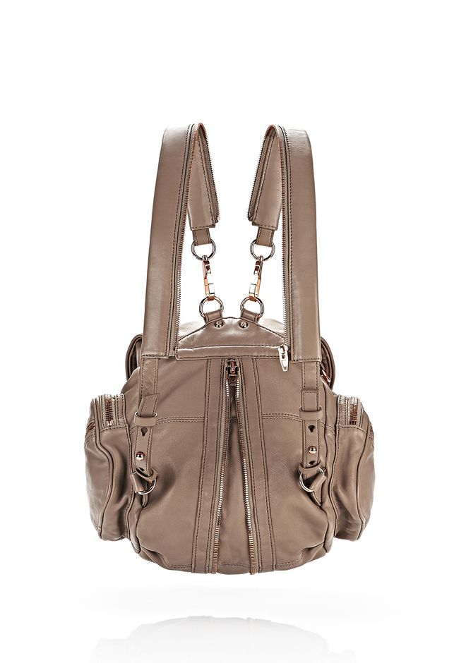 ALEXANDER WANG MARTI IN LATTE WITH ROSE GOLD BACKPACK Adult 12_n_e