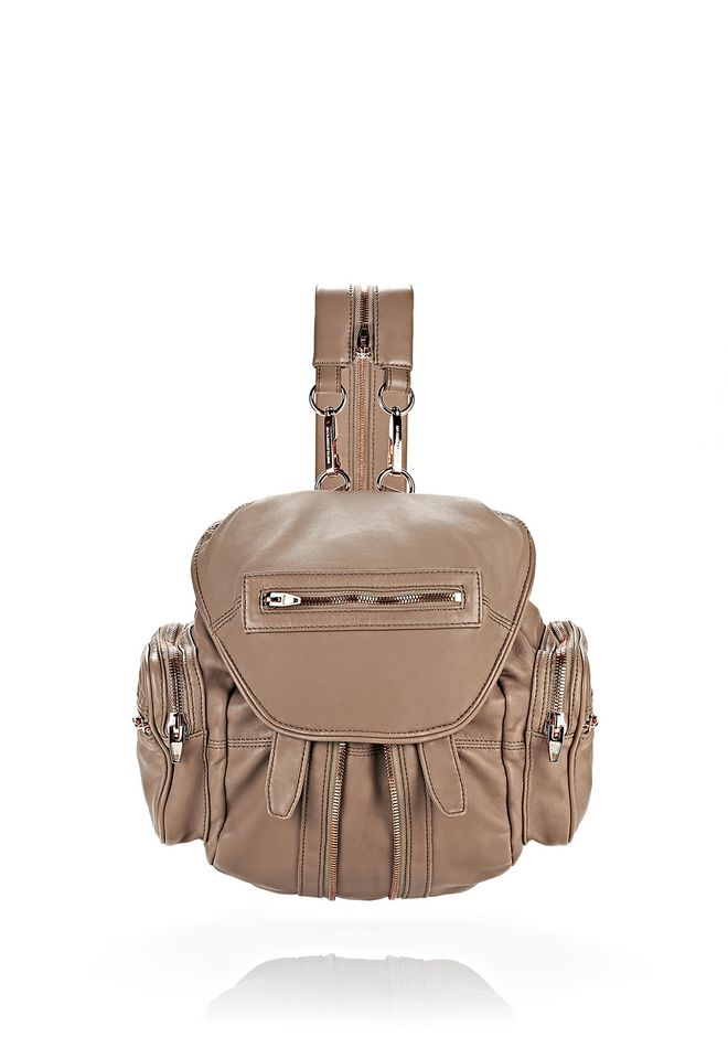 ALEXANDER WANG MARTI IN LATTE WITH ROSE GOLD BACKPACK Adult 12_n_f
