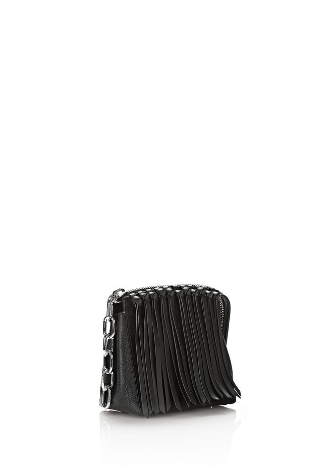 Alexander Attica Flap Marion In Black Fringe With Rhodium Shoulder Bag 12 N D