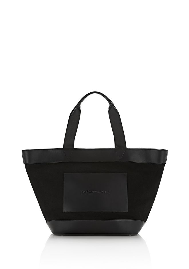 ALEXANDER WANG TOTES Women BLACK CANVAS TOTE