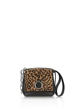 ATTICA FLAP MARION IN PRINTED LEOPARD WITH RHODIUM