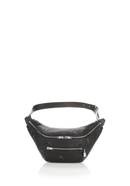 ROSE EMBOSSED FANNY PACK WITH RHODIUM