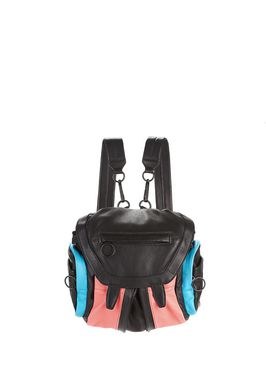 COLOR BLOCKED MINI MARTI BACKPACK WITH MATTE BLACK