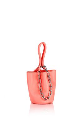 ROXY MINI BUCKET FLUO PINK WITH RHODIUM