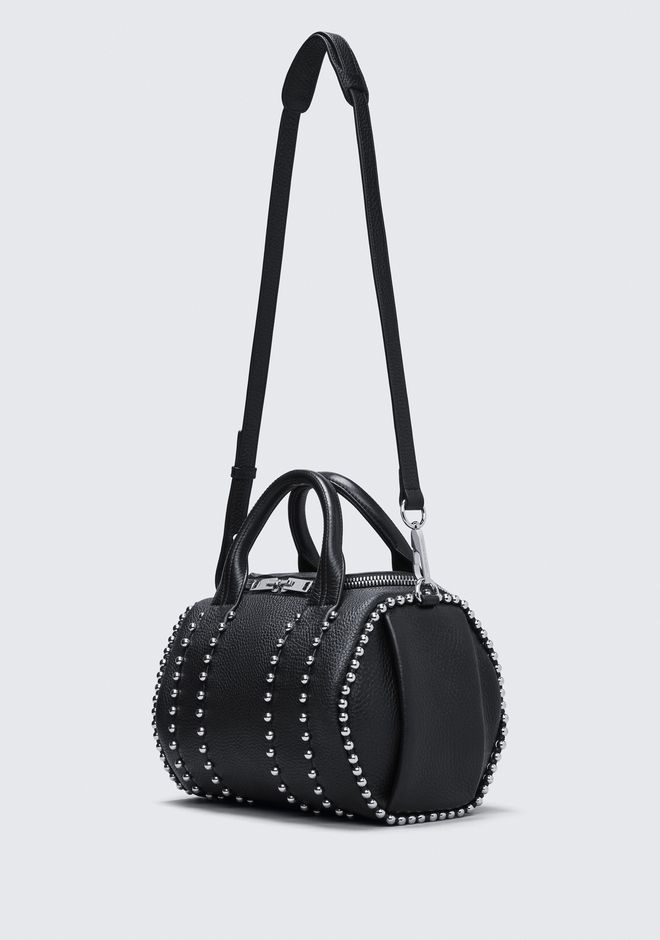 ALEXANDER WANG BALL STUD ROCKIE IN MATTE BLACK WITH RHODIUM  Shoulder bag Adult 12_n_e