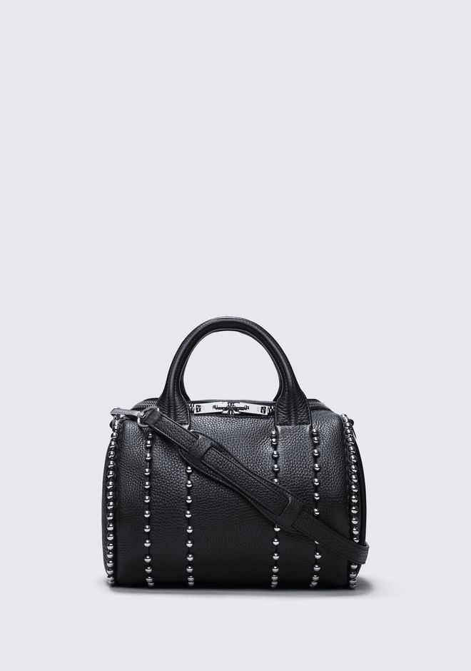 ALEXANDER WANG BALL STUD ROCKIE IN MATTE BLACK WITH RHODIUM  Shoulder bag Adult 12_n_f