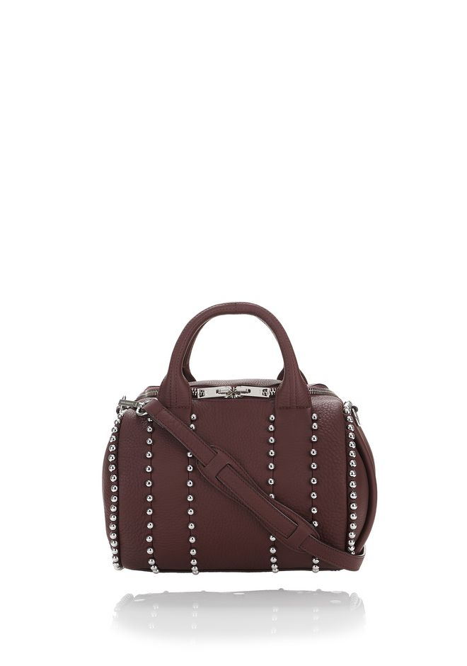 ALEXANDER WANG Shoulder bags BALL STUD ROCKIE IN MATTE BEET WITH RHODIUM