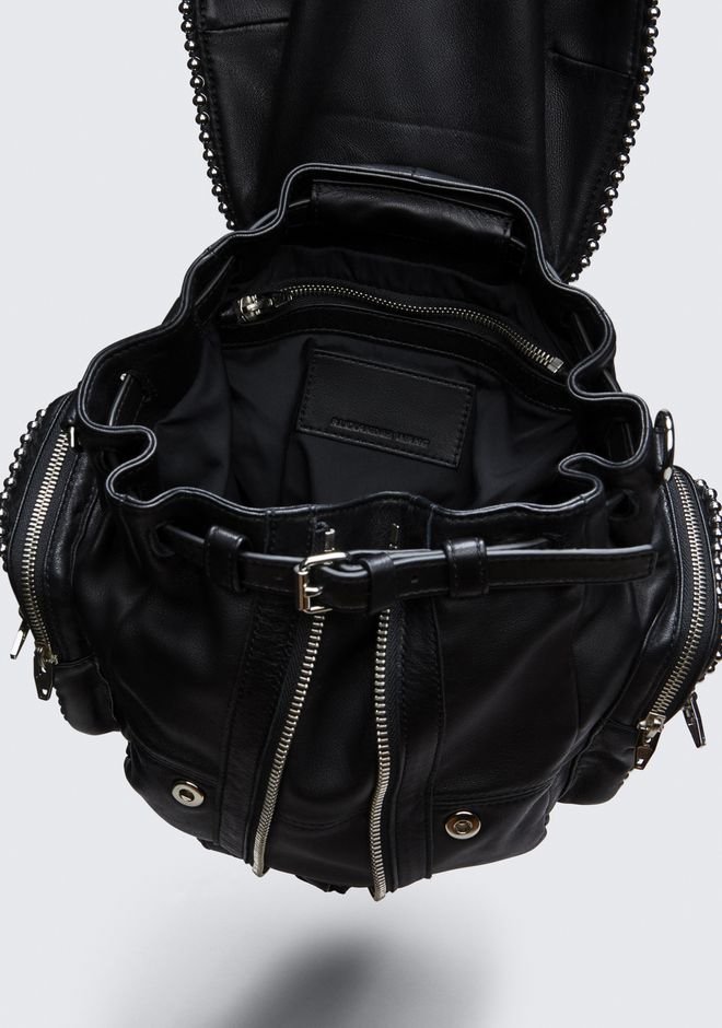 ALEXANDER WANG BALL STUD MINI MARTI IN BLACK WITH RHODIUM  BACKPACK Adult 12_n_e