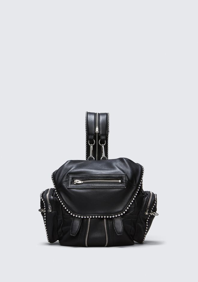 ALEXANDER WANG BALL STUD MINI MARTI IN BLACK WITH RHODIUM  BACKPACK Adult 12_n_f